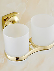 cheap -Toothbrush Holder Bathroom Gadget Neoclassical Brass 8 23 Toothbrush Holder