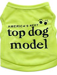 Недорогие -Кошка Собака Футболка Одежда для собак Цветочные / ботанический Зеленый Синий Розовый Терилен Костюм Назначение Лето Муж. Жен. Мода