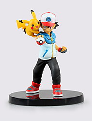 Anime Action Figures Inspired by Pocket Little Monster Ash Ketchum ABS 13.5 CM Model Toys Doll Toy