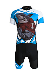 ILPALADINO Cycling Jersey with Shorts Men's Unisex Short Sleeves Bike Jersey Shorts Clothing Suits Quick Dry Ultraviolet Resistant