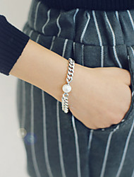 economico -Da donna Bracciali a catena e maglie Bracciali d'argento Perla Lega Vintage Argento Gioielli 1 pezzo