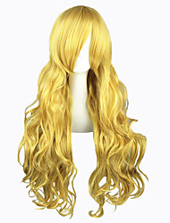 Parrucche Cosplay Touhou Project Marisa Kirisame Oro Lungo Anime Parrucche Cosplay 80 CM Tessuno resistente a calore Uomo / Donna