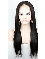 Ženy Paruky z přírodních vlasů Přírodní vlasy Se síťovanou přední částí Krajka vpředu 130% Hustota Rovné Rovné, bláznivé Paruka Sytě