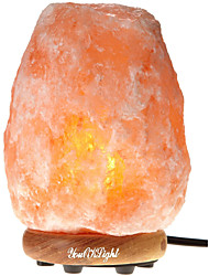 cheap -YouOKLight Carved Natural Crystal Himalayan Salt Lamp With Genuine Neem Wood Base, Bulb And Dimmer Control(US/EU Plug)