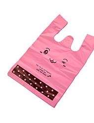 маленькая пластиковая упаковка мешок косметический подарок мешок руки супермаркет торговых ре жилет мешок, пачка 100