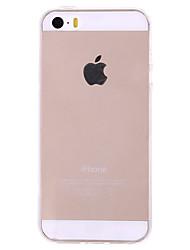 Недорогие -Для Кейс для iPhone 5 Ультратонкий / Прозрачный Кейс для Задняя крышка Кейс для Один цвет Твердый PC iPhone SE/5s/5