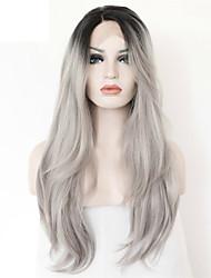 Недорогие -Натуральные волосы Полностью ленточные Лента спереди Парик Естественные кудри 120% 130% плотность 100% ручная работа Парик в