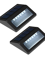 Pack of 2 Solar Power 6-LED  Wall Mount Garden Light Path Landscape Fence Lamp Outdoor