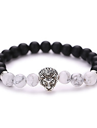 cheap -Adorable Lion Strand Bracelet - Matte Vintage Fashion Geometric Animal Black Bracelet For Christmas Gifts Party Daily
