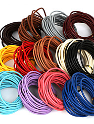 Beadia 5 Mts 3mm Round Leather Cord & Wire & String & Jewelry Cord (13 Colors)