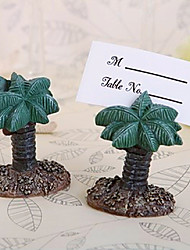 abordables -4pcs / set - hawaii beach palm tree place card holder beter gifts® decoración de la mesa