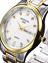 cheap -Women's Dress Watch Fashion Watch Quartz Calendar / date / day Stainless Steel Band Luxury Cool Silver