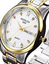 cheap -Women's Dress Watch Fashion Watch Quartz Calendar Stainless Steel Band Luxury Cool Silver