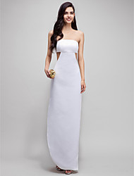 Sheath / Column Strapless Ankle Length Satin Prom Formal Evening Dress with Split Front by TS Couture®