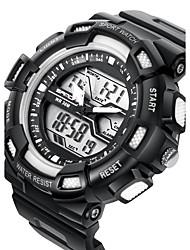 cheap -SANDA® Men's Fashion Sport Analog Digital Double Time LCD Screen Waterproof Rubber Watch Fashion Wrist Watch Cool Watch