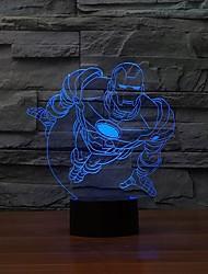 Недорогие -хорошо благополучные 3d визуализации звёздная ночь супер герой форма человек вел светильник таблицы изменения цвета свет ночи
