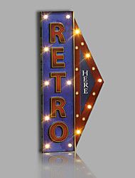 E-HOME® Metal Wall Art LED Wall Decor,RETRO Arrow Indicator LED Wall Decor One PCS