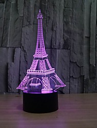 cheap -The Eiffel Tower 3 D Illusion Table Decoration Led Lamp As A Gift