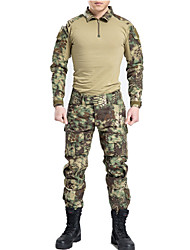 Men's Women's Unisex Long Sleeves Camouflage Hunting T-shirt Quick Dry Wearable Breathable Shockproof Sports Camouflage T-shirt Pants /