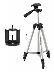 cheap -Ismartdigi i-3110 + Mobile Stand 4-Section Camera Tripod (Silver+Black) for All DV.Camera and Mobile:Samsung iphone Sony