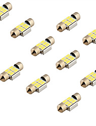 YouOKLight® 10PCS Festoon 31mm 3W 240lm 6 x SMD 5630 LED White Light Decoding Car Reading Lamp Dome Bulb (12V)
