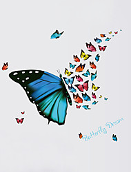Wall Stickers Wall Decals Style Beautiful Butterflies Fly PVC Wall Stickers