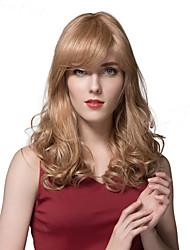 Благородный длинные волны человеческих волос парики для женщин большое качество человеческих париков