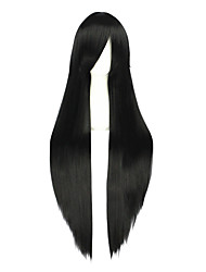 cheap -40inch Long Straight Final Fantasy Vincent Valentine Wig Synthetic Black Anime Cosplay Wigs CS-035V