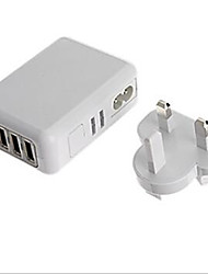 cheap -EU Plug UK Plug US Plug AU Plug Phone USB Charger Multi Ports cm Outlets 4 USB Ports 2.1A 2A 1A 0.5A AC 100V-240V