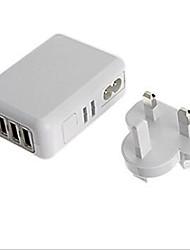 Недорогие -Стандарт Австралии Стандарт Великобритании Стандарт США Телефон USB-зарядное устройство Несколько портов cm Магазины 4 USB порта 2,1A 2A