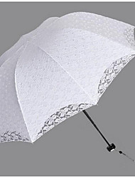 "cheap -Wedding / Daily Umbrella Post Handle Black / White 21.7""(Approx.55cm) Plastic 34.7""(Approx.88cm)"