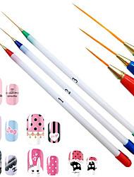 manikúru exploze malované tři PPACK bílý kartáč tyč velmi jemného vytáhnout pero
