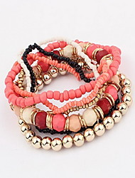 cheap -Women's Beads Charm Bracelet / Strand Bracelet / Wrap Bracelet - Bohemian, Fashion, Boho Bracelet Blue / Pink / Light Blue For Daily / Casual