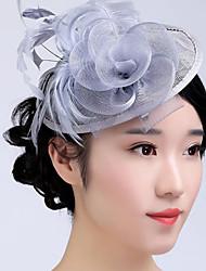 Недорогие -тюль basketwork перо фашификаторы головной убор классический женский стиль