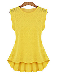 cheap -Women's Casual Street chic Blouse - Solid Colored, Racerback