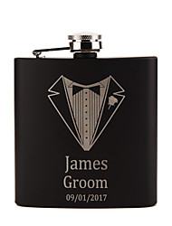 cheap -Personalized Stainless Steel Barware & Flasks Hip Flasks Groom Groomsman Couple Parents Wedding Birthday Valentine