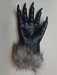 Недорогие -Хэллоуин ужас дьявола перчатки партия проп волчьи перчатки оборотень волка Лапы когтей косплей перчатки жутким костюм театр игрушки