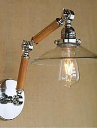 e27 4w 110v-130v 220v-240v semplice vetro trasparente di legno della parete del LED