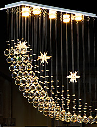 Led 20Watt Crystal Chandeliers/ Modern/Contemporary/ Electroplated Metal/ Living Room / Bedroom / Dining Room / Kitchen