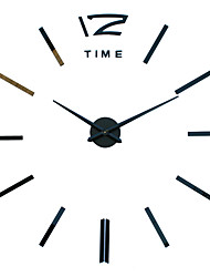 cheap -MQ - 001Large Size Creative Diy Wall Clock Art Background Wall Clock Modern Personality Quiet bell