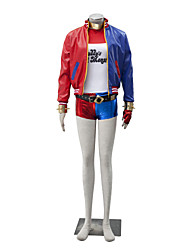 Cosplay Costumes Super Heroes Movie Cosplay Red / Blue Patchwork Coat / Top / More Accessories / Shorts Halloween / Christmas / New Year