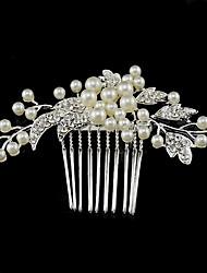 Cristal Perla Artificial Brillante Legierung Peinetas Celada
