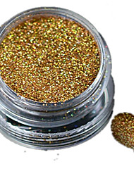 cheap -1 Bottle Nail Art Laser Gold Glitter Shining Powder Manicure Decoration Nail Beauty L01