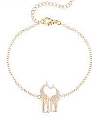 Kiming Korean Seweet Gold/Silver Chain Love Deer Animal Tiny Bracelet Jewelry
