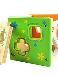 Недорогие -красочные прямые коробки окружающей среды разведки соответствия формы строительные блоки деревянные развивающие игрушки детские игрушки