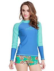 SBART Per donna Mute Dive Skins Top sottomuta Resistente ai raggi UV Compressione Tactel Scafandro Manica lunga Scafandri Costumi da bagno