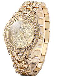 Per donna Orologio elegante Orologio alla moda Orologio casual Orologio pavé Quarzo Orologio casual imitazione diamante Placcato oro rosa