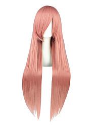 Perruques de Cosplay Pandora Hearts Lin Rose Long Anime Perruques de Cosplay 80 CM Fibre résistante à la chaleur Masculin / Féminin