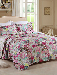 Comfortable Cotton Plain 100% Cotton Quilted Floral