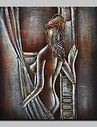 economico -pittura a olio astratta moderna dipinta a mano su tela di canapa foto con telaio allungato pronto a appendere